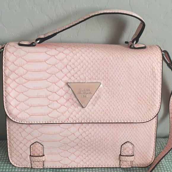 288a975514d NWT Blush Pink Crocodile Guess Crossbody Bag NWT